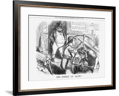 The Street Up Again!, 1859--Framed Art Print