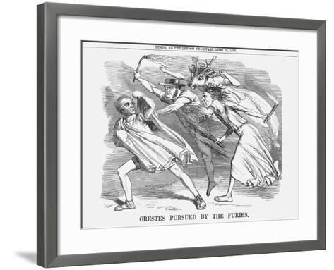 Orestes Pursued by the Furies, 1858--Framed Art Print