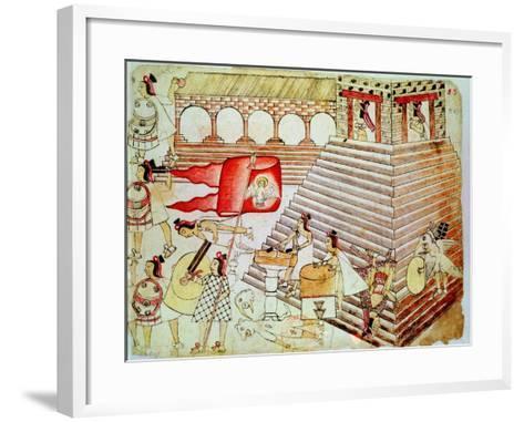 Aztec Warriors Defending the Temple of Tenochtitlan Against Conquistadors, 1519-1521--Framed Art Print