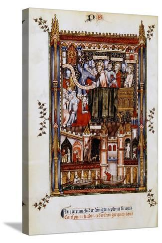 The Arrest of St Denis, 1317--Stretched Canvas Print