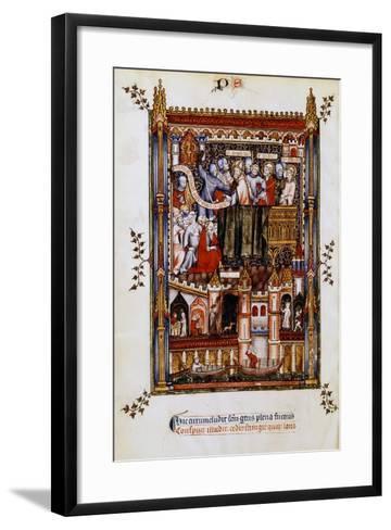 The Arrest of St Denis, 1317--Framed Art Print