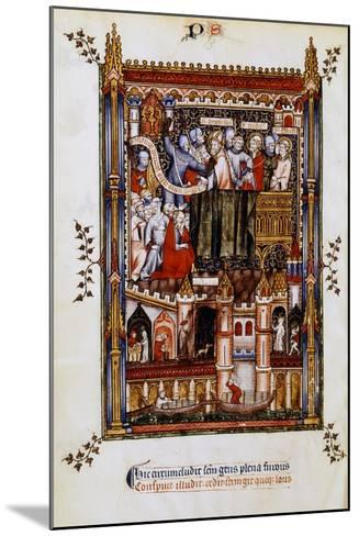 The Arrest of St Denis, 1317--Mounted Giclee Print