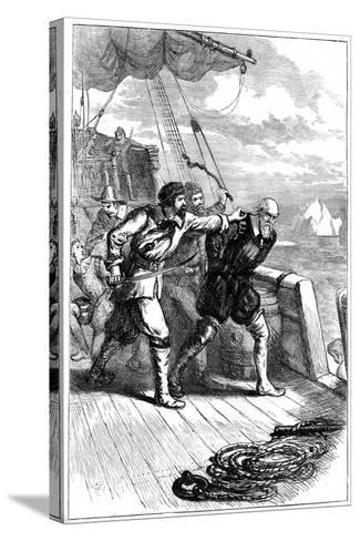 Mutiny on Henry Hudson's Ship, 1611--Stretched Canvas Print