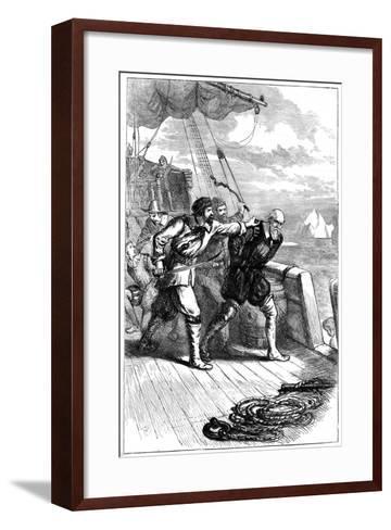 Mutiny on Henry Hudson's Ship, 1611--Framed Art Print