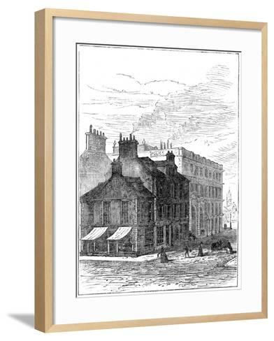 Birthplace of James Watt Shortly before it Was Demolished, 1887--Framed Art Print
