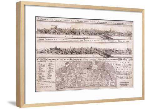 Map of London-Christopher Wren-Framed Art Print