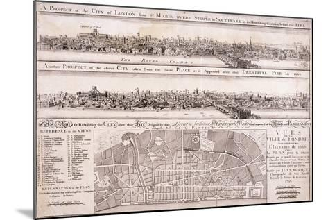 Map of London-Christopher Wren-Mounted Giclee Print