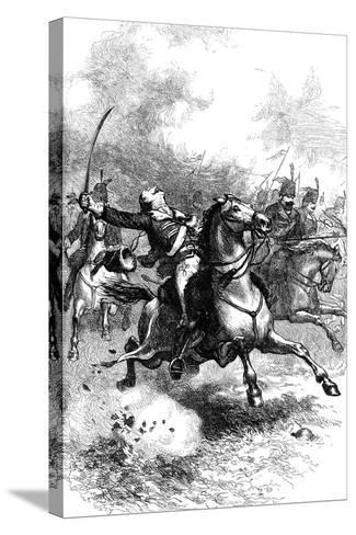 The Charge of Pulaski, C1880--Stretched Canvas Print