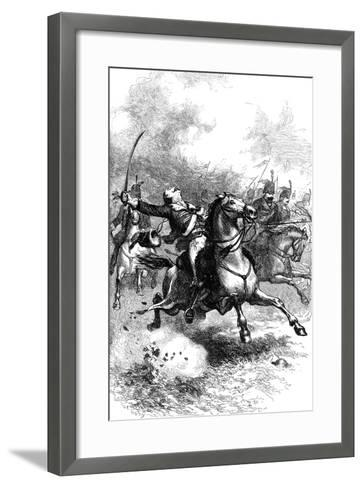 The Charge of Pulaski, C1880--Framed Art Print