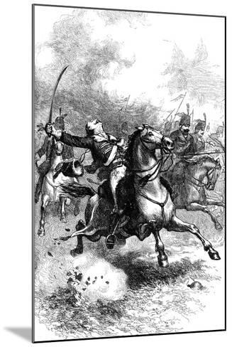 The Charge of Pulaski, C1880--Mounted Giclee Print