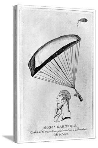 Andre Jacques Garnerin, French Aeronaut and the First Parachutist, C1802--Stretched Canvas Print