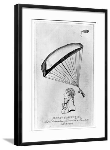 Andre Jacques Garnerin, French Aeronaut and the First Parachutist, C1802--Framed Art Print