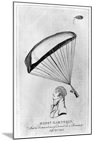 Andre Jacques Garnerin, French Aeronaut and the First Parachutist, C1802--Mounted Giclee Print