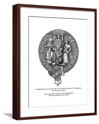 Representation of Edward, the Black Prince, Kneeling in Veneration of the Holy Trinity--Framed Art Print