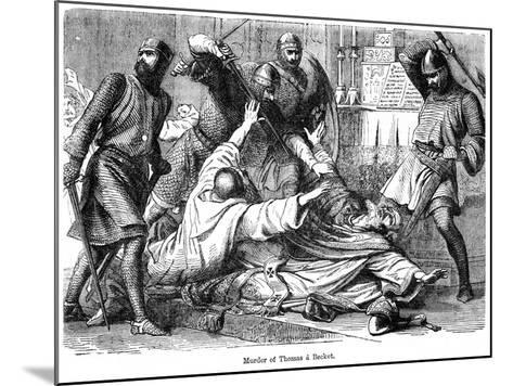 Murder of Thomas a Becket, 1170--Mounted Giclee Print