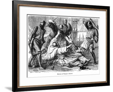 Murder of Thomas a Becket, 1170--Framed Art Print
