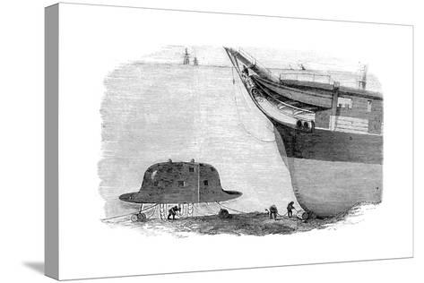 Charles Babbage's Proposed Design for a Diving Bell, 1855--Stretched Canvas Print