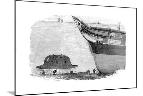Charles Babbage's Proposed Design for a Diving Bell, 1855--Mounted Giclee Print