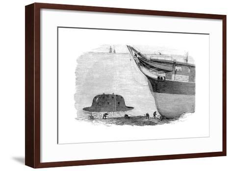 Charles Babbage's Proposed Design for a Diving Bell, 1855--Framed Art Print