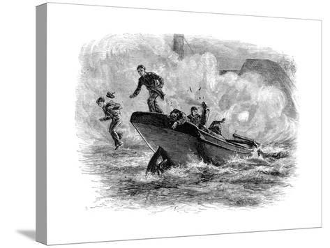 Lieutenant Cushing's Attack on the 'Albemarle, C1880--Stretched Canvas Print
