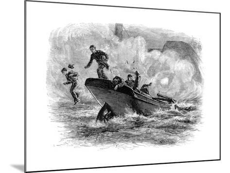 Lieutenant Cushing's Attack on the 'Albemarle, C1880--Mounted Giclee Print
