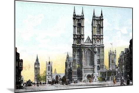 Westminster Abbey and Big Ben, London, 20th Century--Mounted Giclee Print