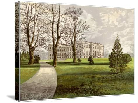 Kimbolton Castle, Huntingdonshire, Home of the Duke of Manchester, C1880-AF Lydon-Stretched Canvas Print
