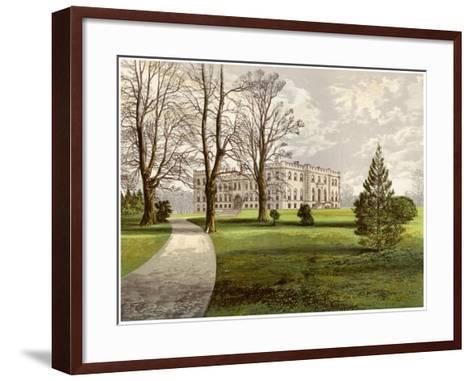 Kimbolton Castle, Huntingdonshire, Home of the Duke of Manchester, C1880-AF Lydon-Framed Art Print