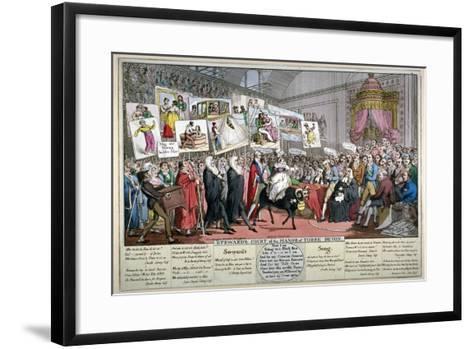 Steward's Court of the Manor of Torre Devon, 1820-Theodore Lane-Framed Art Print