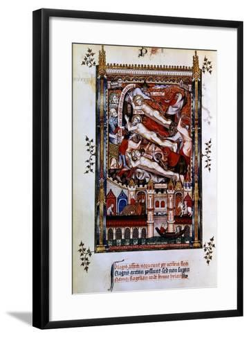 Flagellation of St Denis, St Rustic and St Eleutherius, 1317--Framed Art Print