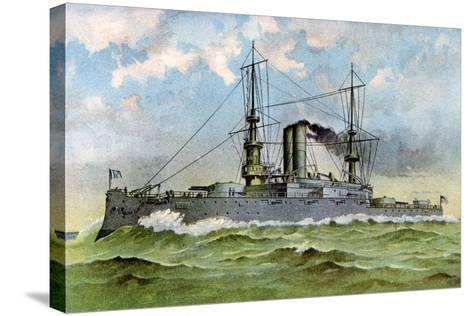 Uss 'Alabama, American Battleship, 1898--Stretched Canvas Print