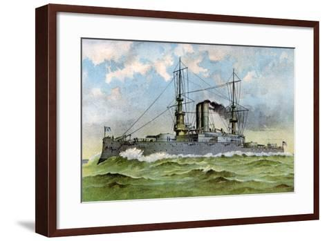 Uss 'Alabama, American Battleship, 1898--Framed Art Print