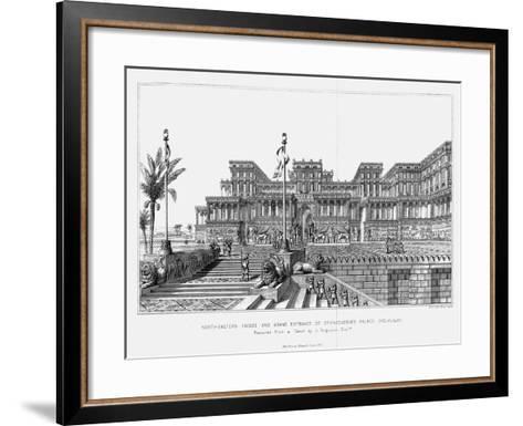Reconstruction of the North-Eastern Façade of Sennacherib's Palace (Kouyunji), Assyrian, 1853--Framed Art Print