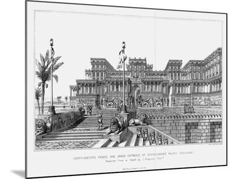 Reconstruction of the North-Eastern Façade of Sennacherib's Palace (Kouyunji), Assyrian, 1853--Mounted Giclee Print