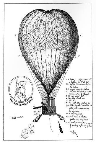 The Enterprizing Lunardi's Grand Air Ballon, 1784--Stretched Canvas Print