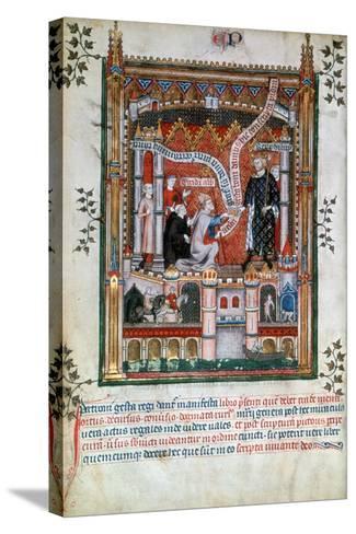 Gilles De Pontoise, Abbot of St Denis, 1317--Stretched Canvas Print