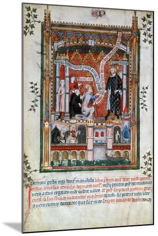 Gilles De Pontoise, Abbot of St Denis, 1317--Mounted Giclee Print