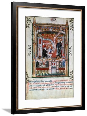 Gilles De Pontoise, Abbot of St Denis, 1317--Framed Art Print