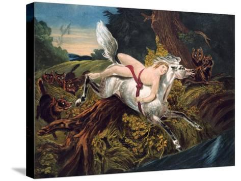 Scene from Byron's Poem Mazeppa, C1820--Stretched Canvas Print