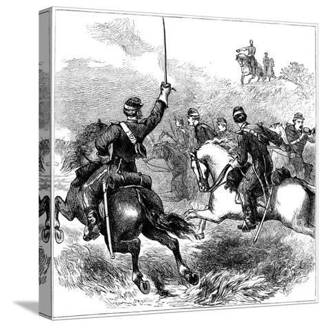 General Sheridan at Cedar Creek, Virginia, American Civil War, 1864--Stretched Canvas Print