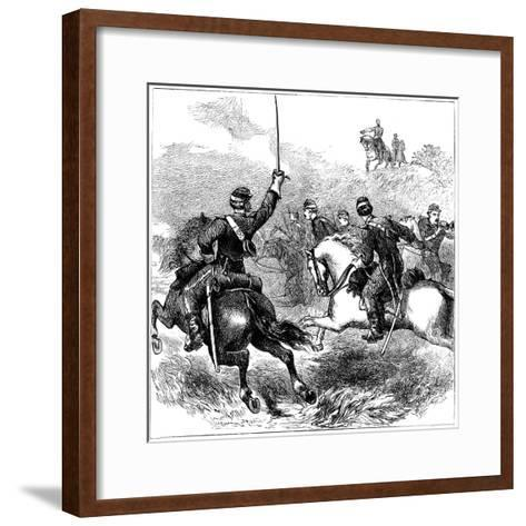 General Sheridan at Cedar Creek, Virginia, American Civil War, 1864--Framed Art Print