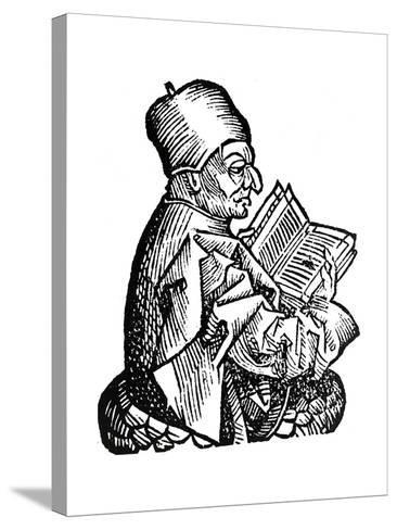 The Venerable Bede (C673-73), Anglo-Saxon Theologian, Scholar and Historian, 1493--Stretched Canvas Print