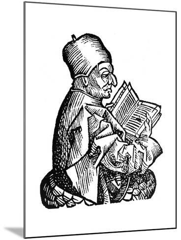 The Venerable Bede (C673-73), Anglo-Saxon Theologian, Scholar and Historian, 1493--Mounted Giclee Print