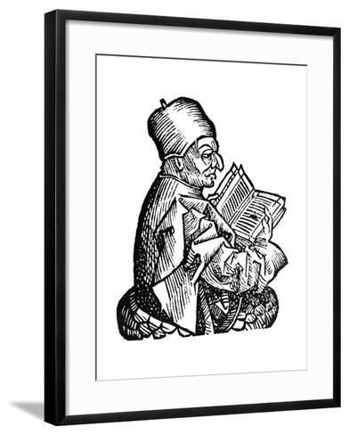 The Venerable Bede (C673-73), Anglo-Saxon Theologian, Scholar and Historian, 1493--Framed Art Print