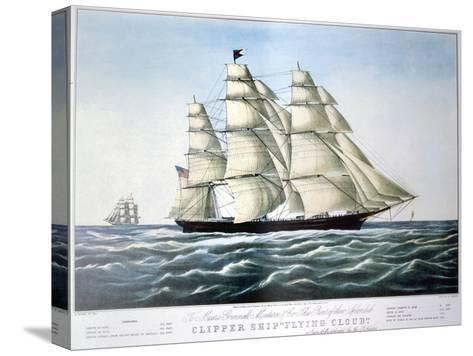 Clipper Ship Flying Cloud, 1851-1907-E Brown Jr-Stretched Canvas Print