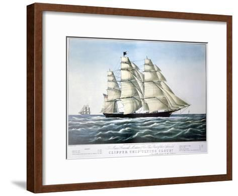 Clipper Ship Flying Cloud, 1851-1907-E Brown Jr-Framed Art Print