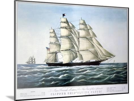 Clipper Ship Flying Cloud, 1851-1907-E Brown Jr-Mounted Giclee Print
