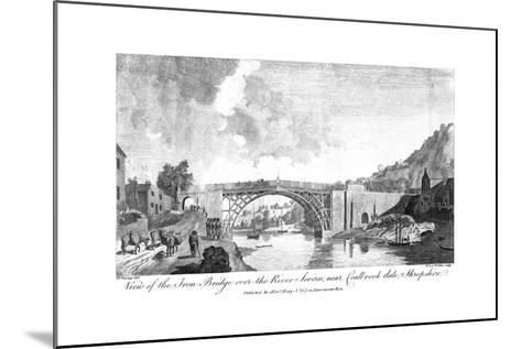 View of the Iron Bridge over the River Severn, Coalbrookdale, Shropshire, 19th Century- W & J Walker-Mounted Giclee Print