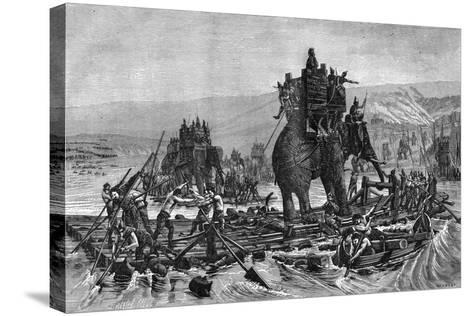 Hannibal Crossing the Rhone, 218 BC (1882-188)--Stretched Canvas Print
