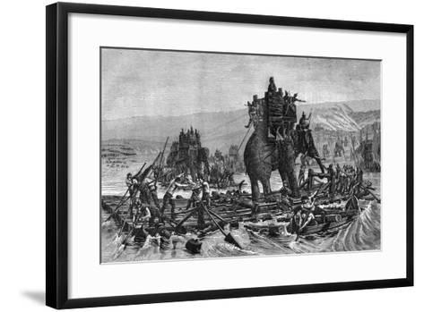 Hannibal Crossing the Rhone, 218 BC (1882-188)--Framed Art Print